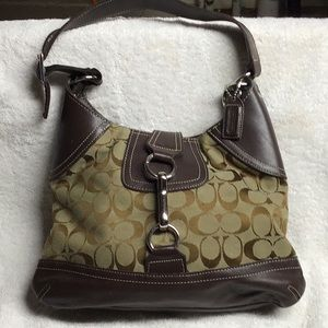 Classic Coach purse in Monogram Jacquard Fabric